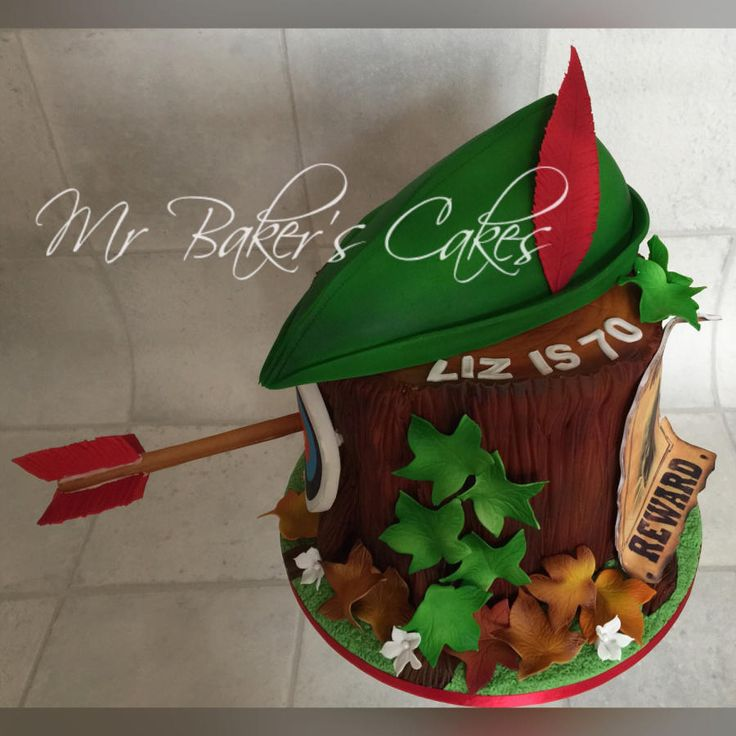 Sherwood Tree Stump by Mr Baker's Cakes