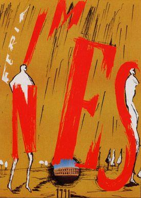 Féria de Nîmes  - Affiche 1991 - Artiste Enzo Cucchi