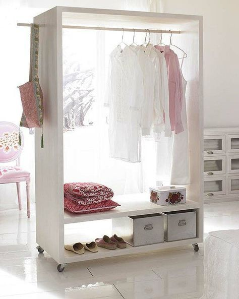 Portable Closet - good for our new place with teeny-tiny closets!