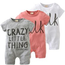 2017 Nieuwe Mode baby Romper unisex katoen Korte mouw pasgeboren baby kleding jumpsuit Baby kleding set roupas de(China)