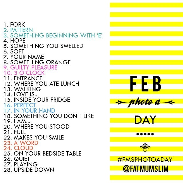 february 2013 photo a day prompt list