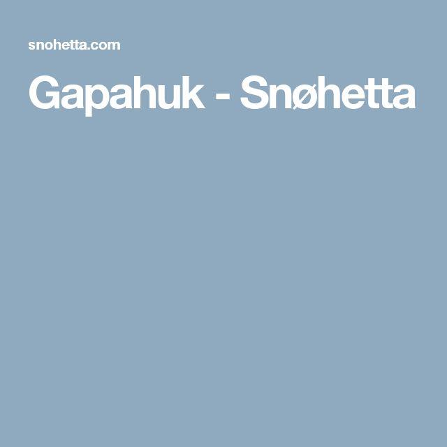Gapahuk - Snøhetta