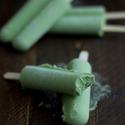 Green Tea Coconut Popsicles: 1 can coconut milk, 1/2 c other milk, 1/4 c sweetener (agave or honey), 2-3 tsp matcha