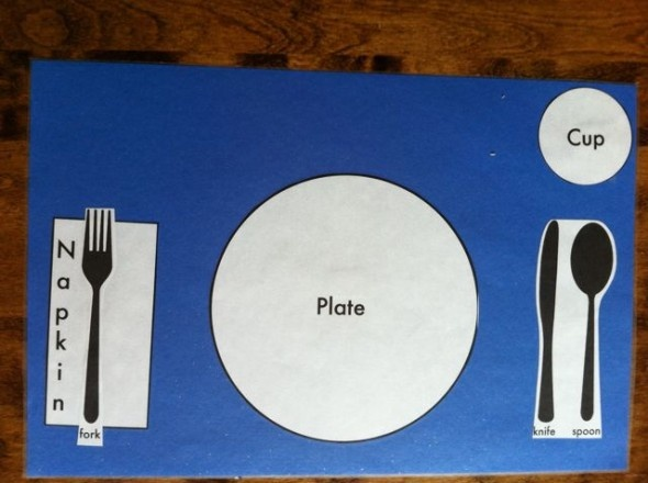 Table Setting Placemat & 80 best Life Skills images on Pinterest | Social skills Speech ...