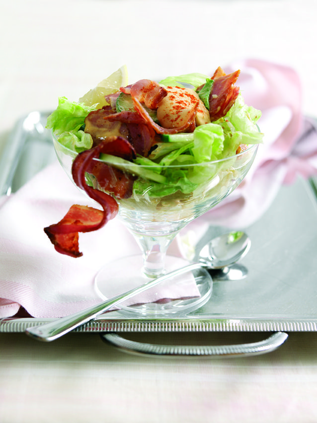 Bacon Cocktail with Zingy Mustard Dressing