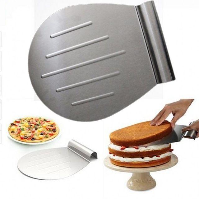 € 10,19 / 26 cm - Rvs Cake Bakken Tools Cake Pizza Schop Transfer Cake lade bewegende plaat cake lifter diy bakken & gebak gereedschappen MK2109