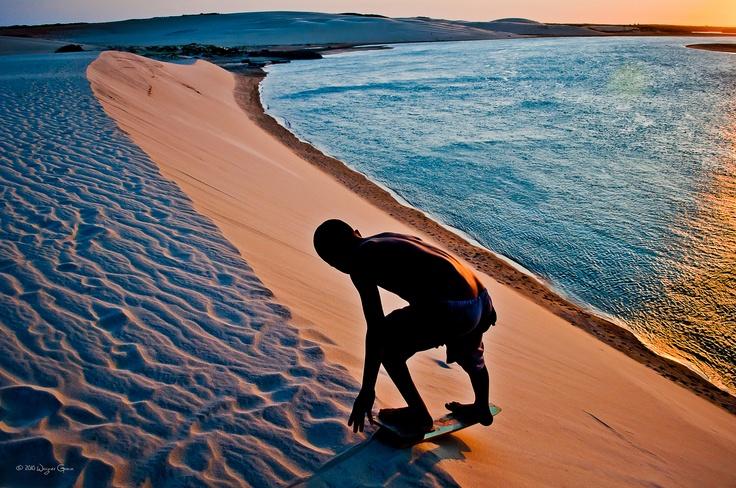 Dunes in Mundaú Beach, Brazil.
