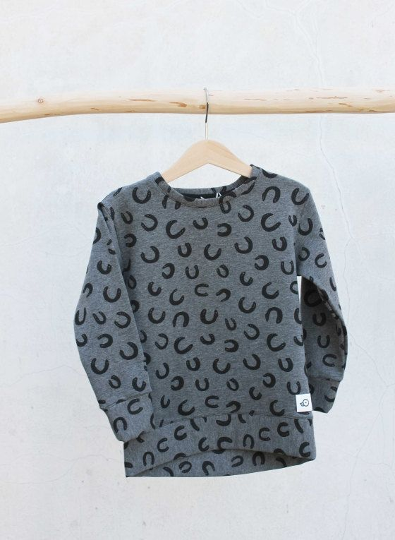 Cotton fleece Sweatshirt Horse Shoes Prints, Kids Toddler Baby Pullover by Pocopato on Etsy