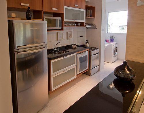 Cozinha e lavanderia integradas
