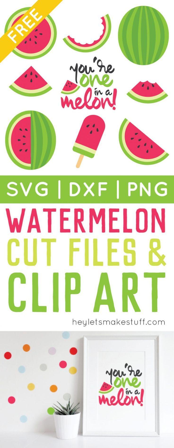 Watermelon Cut Files + Clip Art – Freebie Friday