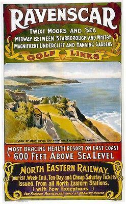 Ravenscar, North #Yorkshire #Railway Poster, #England.