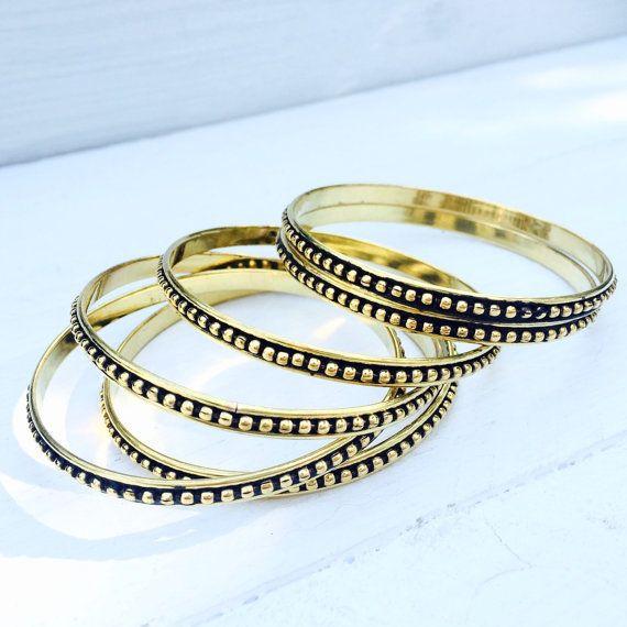 Detail Brass bracelet, brass bangle, jewelry, boho bracelet, boho fashion, gypsy bracelet, gold bangle, accessories, tribal jewelry.