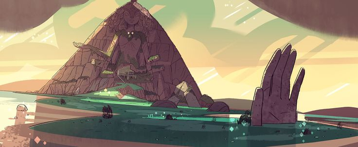 "A selection of backgrounds from the Steven Universe episode: ""Gem Glow""  Direction: Kevin Dart  Design: Steven Sugar, Emily Walus, Sam Bosma  Paint: Elle Michalka, Amanda Winterstein  Lookin' good, team."