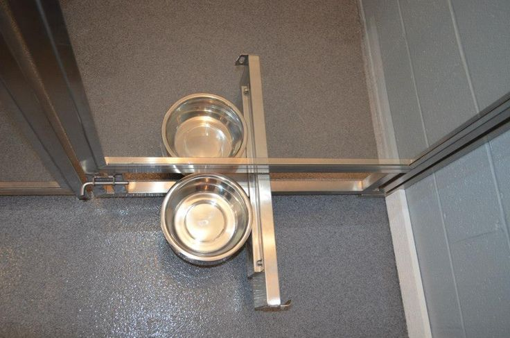 We designed these swivel bowl feeders with removable feeding bowls to help you feed multiple dogs without entering the dog kennels and cages. Direct Animal's dog kennel panels, runs, floors and other premium dog kennel designs can be customized for your style and function standards in any space