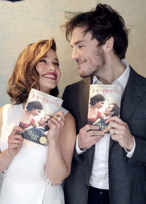 """Emilia Clarke and Sam Claflin behind the scenes of a new photoshoot for Me Before You. "" """