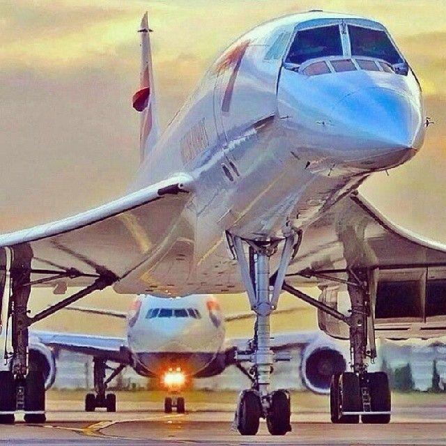 Beautiful shot of Concorde