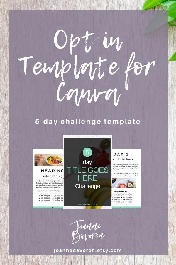 Lead Magnet Template for Canva | 5 Day Challenge template