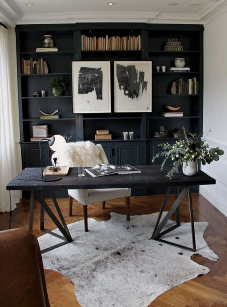 Dark Wood In An At Home Office In 2020 Home Office Decor Home Office Space Home Office Design