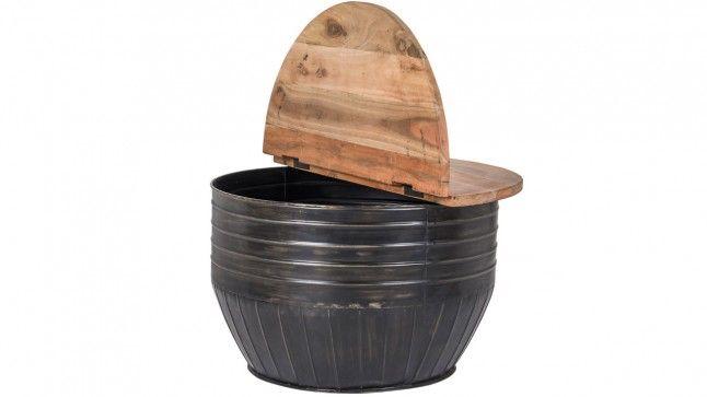 Salontafel Mea round zwart