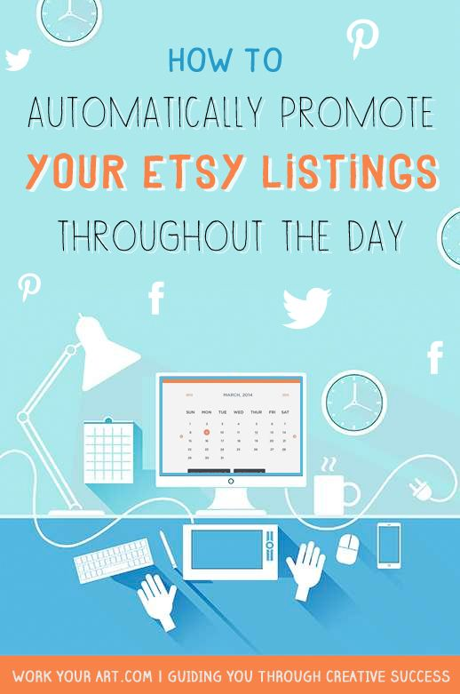 Great article on how to automatically (+ affordably) schedule and post your Etsy listings to Pinterest, Facebook, and Twitter: http://www.workyourart.com/blog/schedule-pinterest-twitter-facebook/ #pinterest #marketing #etsy