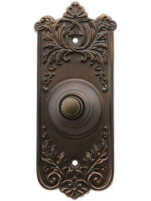 Lorraine Pattern Doorbell Button In Oil-Rubbed Bronze