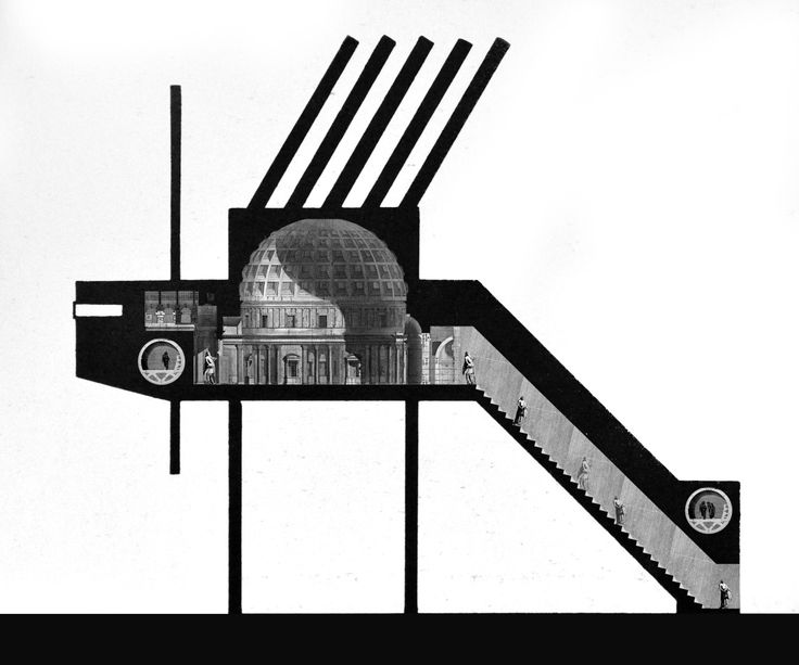 Piranesian SecurityCollage based on John Hejduk's 'Security' project and interior illustrations by  Piranesi.Student: Matthew Darmour-Paul