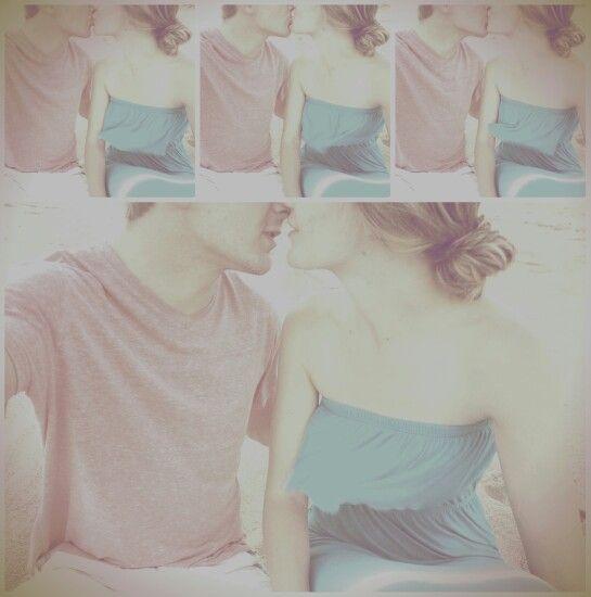 Loving my editor ... me an my boyfriend kissing on the beach... Beach selfie kissing in love
