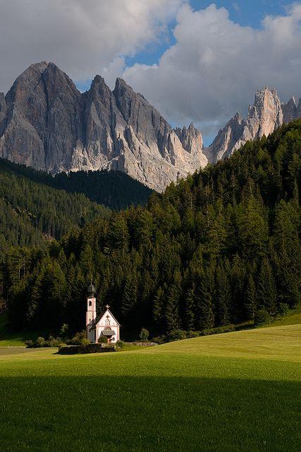 Santa Maddalena church, Funes, Odle, Dolomites, Italy Bolzano, South Tyrol, Trentino Alto Adige
