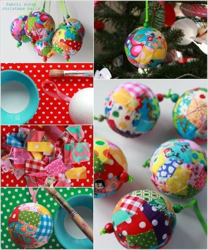 1001 Ideas De Bolas De Navidad Hechas A Mano Bolas De Navidad Bolas De Navidad Patchwork Adornos Navidenos