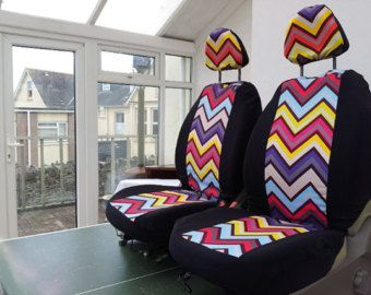 Chevron Car Seat Covers Front Candy Zig Zag Design English