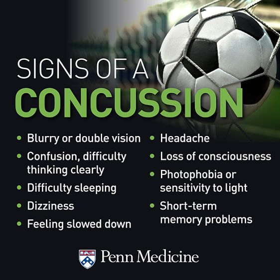 A little headache after the game is one thing, but how do you know it's not a #concussion? Learn more about the signs of a concussion.