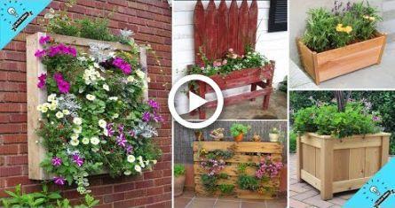 100+ Creat Ideas for DIY Pallet planter Garden | J…