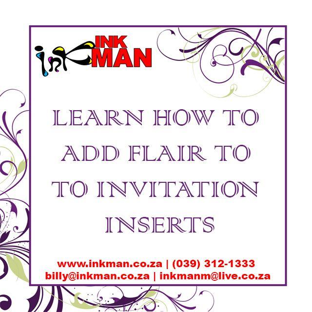 #BEST #Invitation #Insert #IDEAS HERE! #INKman #Margate #SouthAfrica #DIY #Design http://bit.ly/1PIdJXm