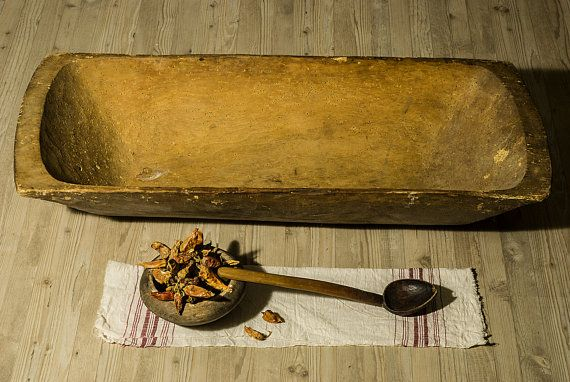 Primitive Wooden Trough Bowl, Hand Carved Bowl, Country Chic, Primitive Wooden Dough Bowl, Rustic Home Decor, Antique cookware, Kitchen (scheduled via http://www.tailwindapp.com?utm_source=pinterest&utm_medium=twpin&utm_content=post78819839&utm_campaign=scheduler_attribution)