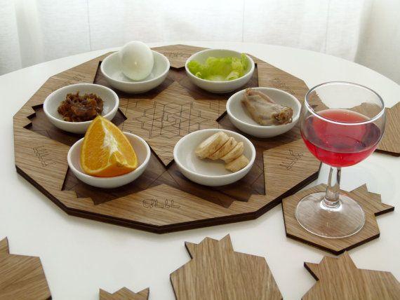 Passover Pre Order SALE Passover seder plater by StudioArmadillo