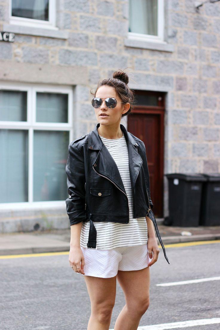 47 best little black jacket images on Pinterest | Black leather ...
