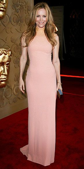 Leslie Mann Judd Apatow's leading lady is also in the pink, flaunting her curves in a high-neck gown by L'Wren Scott.
