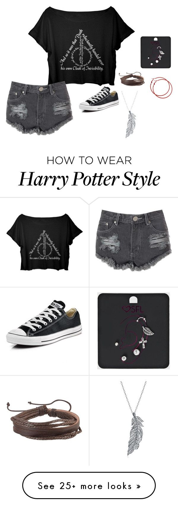 """""""Untitled #561"""" by em333my on Polyvore featuring Glamorous, Converse, Zodaca and Stone Paris"""