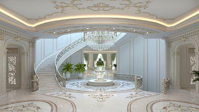 Bespoke Villa Interior Design In Dubai By Luxury Antonovich Design Luxury Interior Beautiful Houses Interior Entrance Design