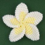 Free Crochet Pattern For Hibiscus Flower : Crochet, Plumeria flowers and Flower on Pinterest