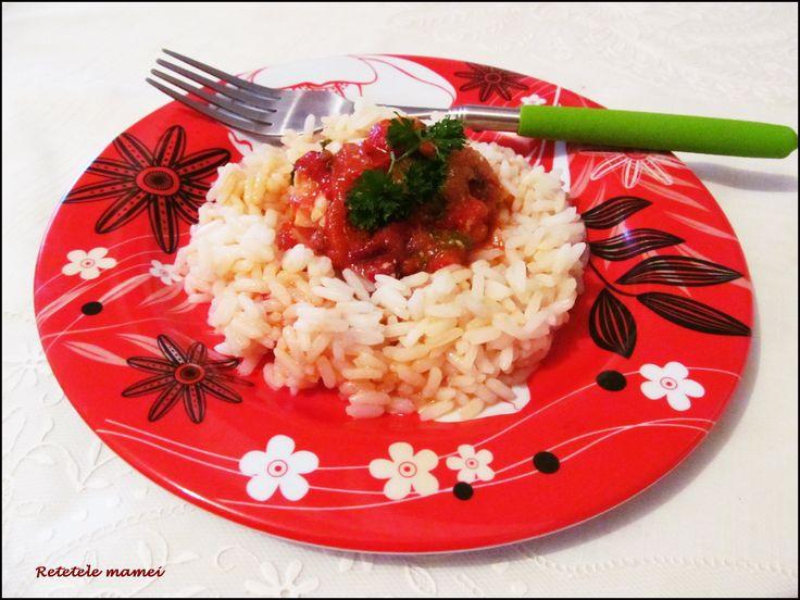 Mâncare de pui cu ardei copt