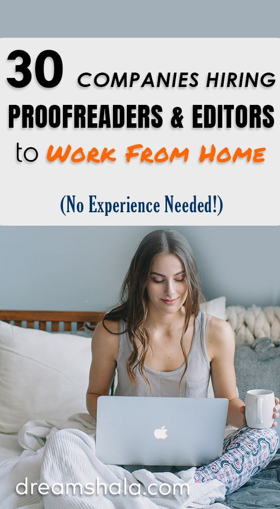 telecommute editing proofreading jobs