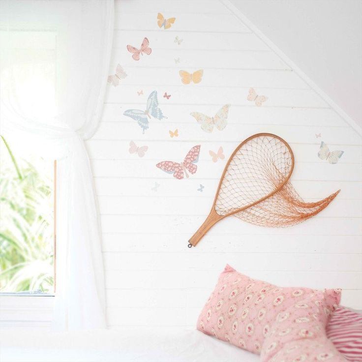 Small Butterfly Decals - Antique