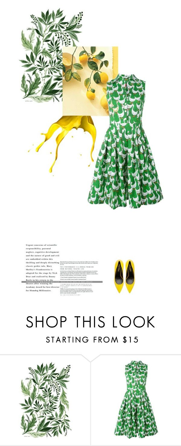 """Summer in Brights"" by annasalenkova on Polyvore featuring Ultràchic and Yves Saint Laurent"