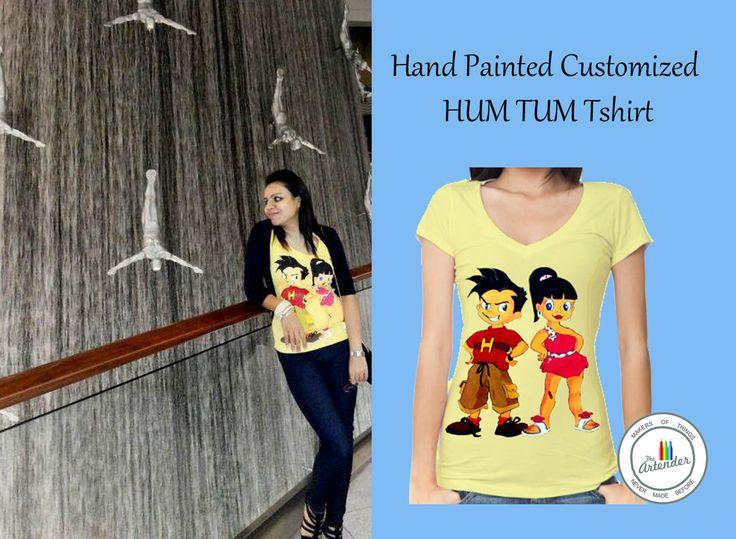 Hand painted HUM TUM cartoon t-shirt