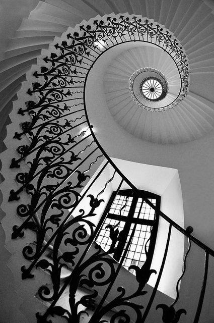 intricate iron spiral staircase