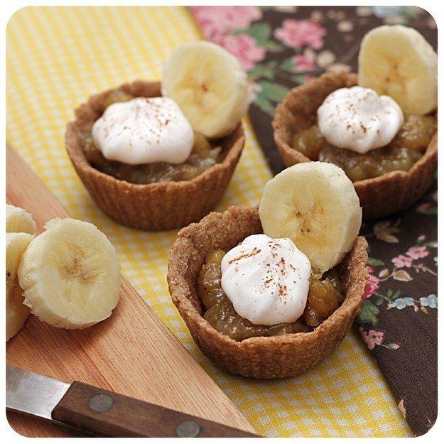 Tortinha de banana | 10 delícias veganas para você cozinhar já