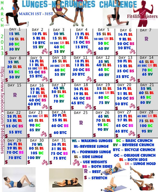 Lunges-N-Crunches Challenge