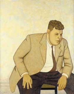 John Brack's portrait of Fred Williams