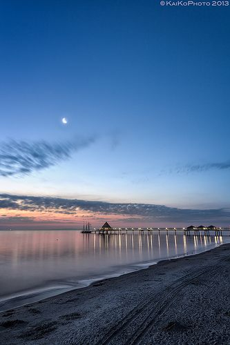 Heringsdorf Pier, Heringsdorf, Baltic Sea Island of Usedom - the longest sea pier in Germany